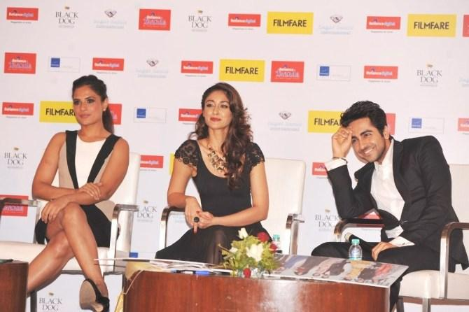 Richa,Ileana And Ayushmann Looked Glamorous At Launch Of Filmfare Special Award Issue