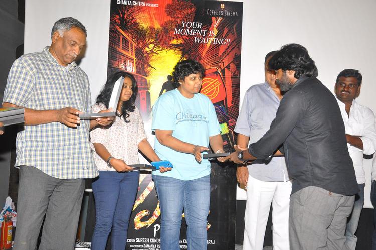 Nandini,Vijay And Tammreddy At Pizza Movie Premier Show Press Meet Event