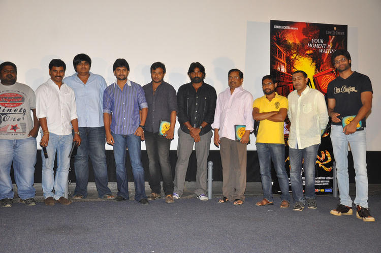 Nani,Suresh,Karthik And Vijay Clicked At Pizza Movie Premier Show Press Meet Event