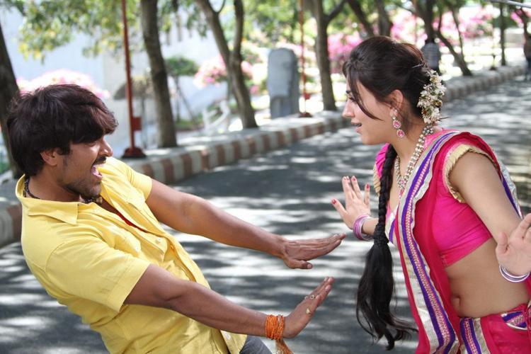 Srinivas And Aksha Awesome Expression Photo Still From Movie Rye Rye