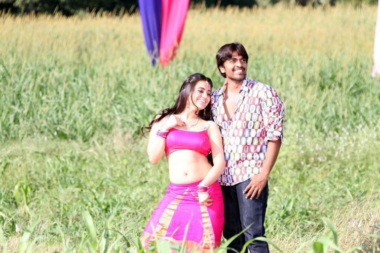 Srinivas And Aksha Cute Smiling Photo Still From Movie Rye Rye