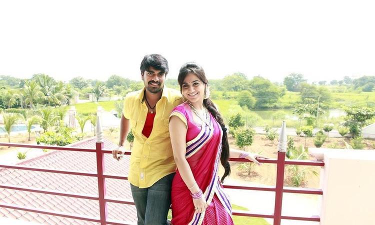 Srinivas And Aksha Nice Look With Cute Smiling Photo Still From Movie Rye Rye