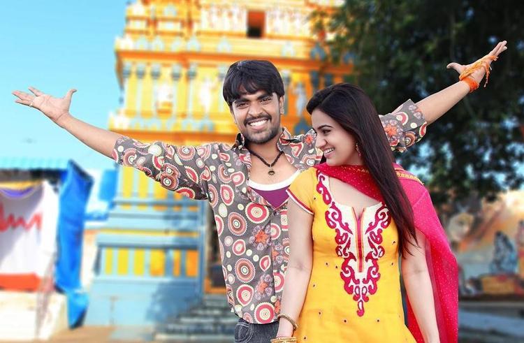 Srinivas And Aksha Smiling Face Look Photo Still From Movie Rye Rye