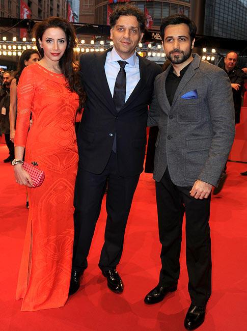 Prashita,Emraan And Danis Posed In Red Carpet At The 63rd Berlin Film Festival