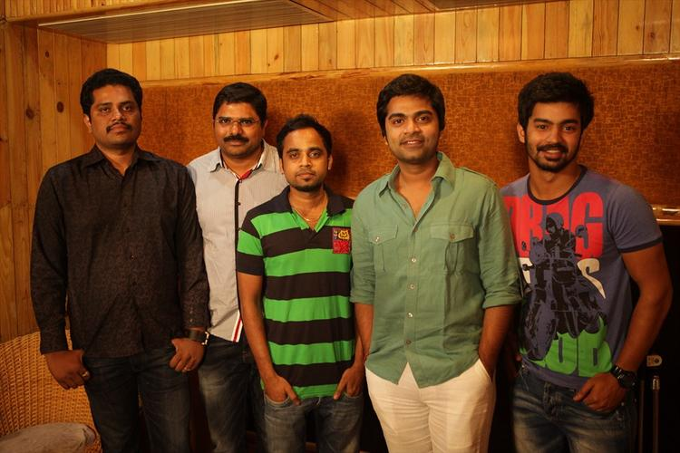Simbu Strikes A Pose With Friends Still