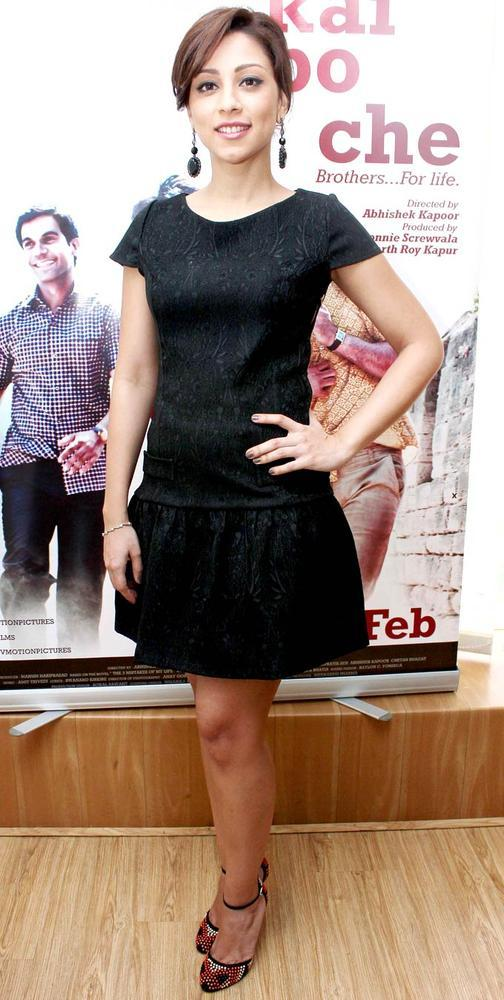 Amrita Puri Strikes A Pose At A Promotional Event For Her Upcoming Film Kai Po Che