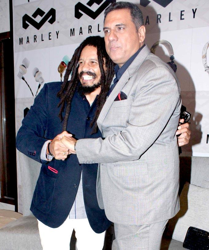 Boman And Rohan Marley Hug Photo Clicked At House Of Marley Event