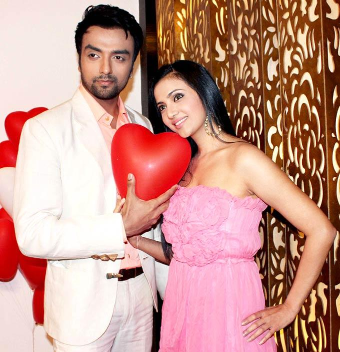 Shilpa And Akash Posed For Camera During Celebration Of Valentines Day