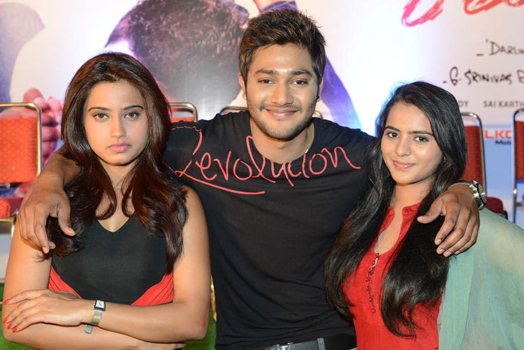 Dimple,Prince And Manasa Posed During The Romance Movie First Look Teaser Launch Event