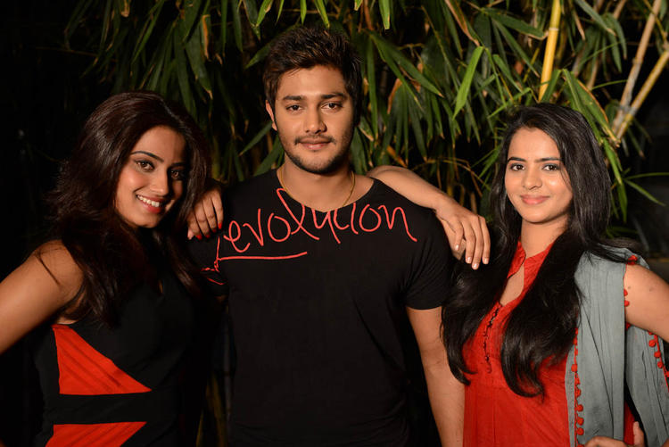 Dimple,Prince And Manasa Posed At Romance Movie First Look Teaser Launch Event