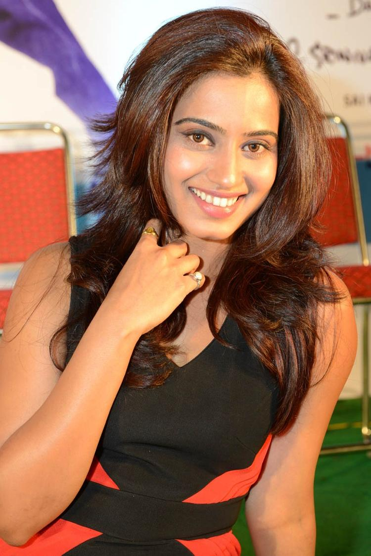 Dimple Nice Look With Cute Smiling Still At Romance Movie Teaser Launch