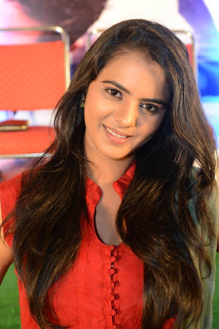 Manasa Completed Her Look With Flowing Hair Still