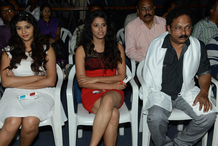 Lakshmi,Shravya And Ramesh Sitting Snapp At Audio Launch Of Movie 143 Hyderabad