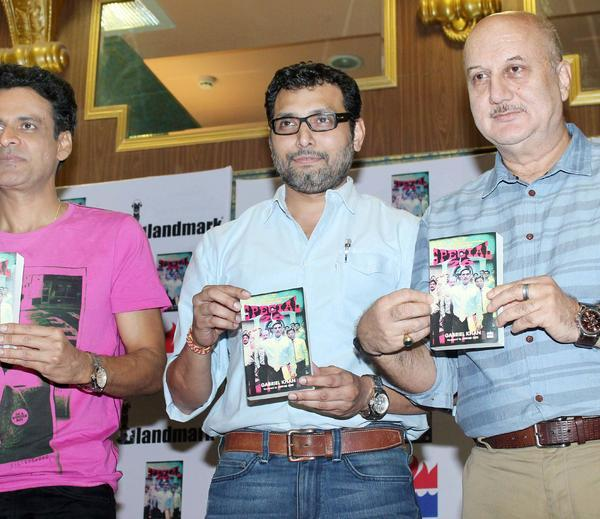 Manoj,Neeraj And Anupam Launch The Special 26 Book Photo Clicked
