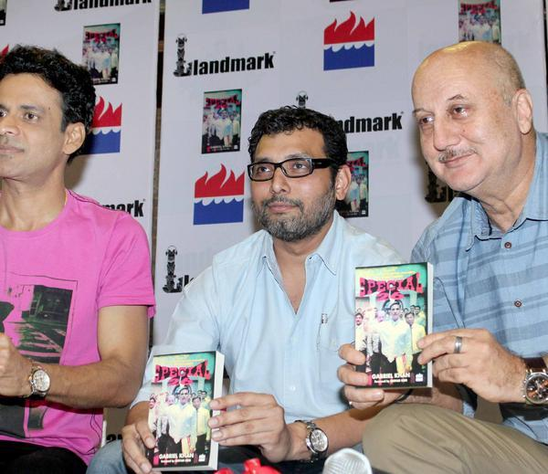 Manoj,Neeraj And Anupam Smiling Photo Clicked At Special 26 Book Launch Event
