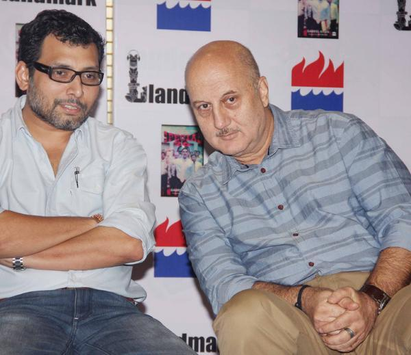 Neeraj And Anupam Snapped At Special 26 Book Launch Event