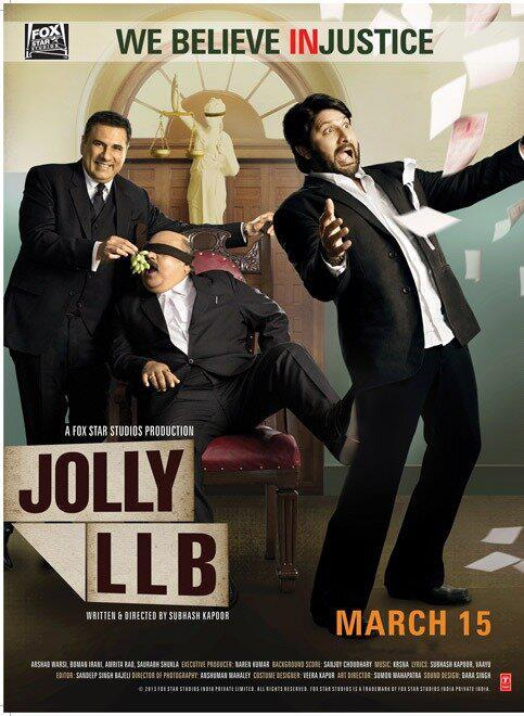 The First Look Poster Of Jolly LLB Starring Boman Irani And Arshad Warsi