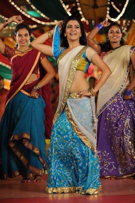 Samantha Gorgeous Look In Saree In Movie Jabardasth