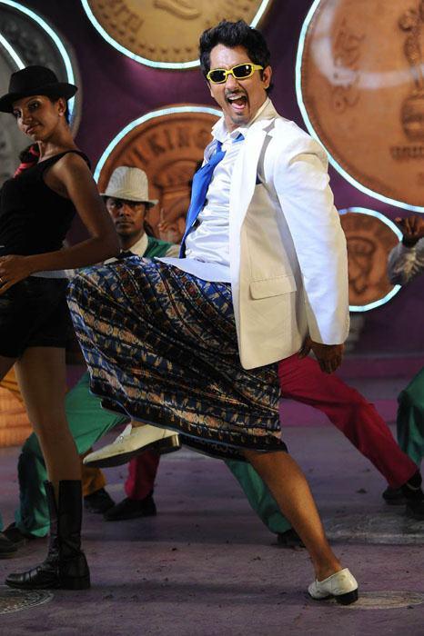 Siddharth Dance In Lungi Photo Still From Movie Jabardasth