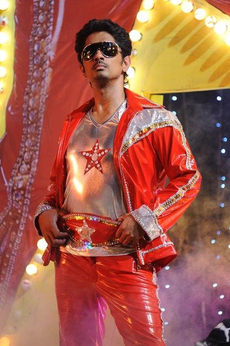 Siddharth Dashing Look Photo Still In Red Chick Dress From Movie Jabardasth