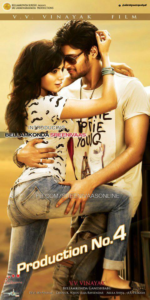 Samantha And Srinivas Romance Photo Poster Of Their Upcoming New Movie