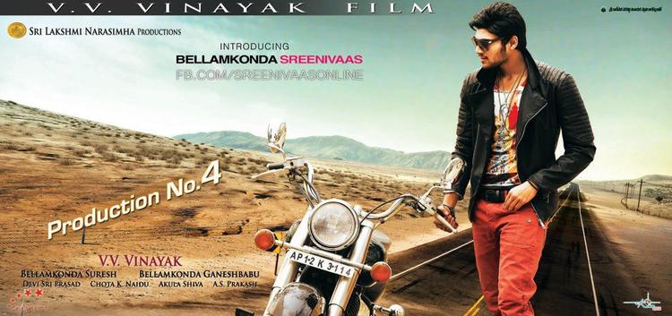 Srinivas Stylish Pose Photo Poster Of His Upcoming New Movie