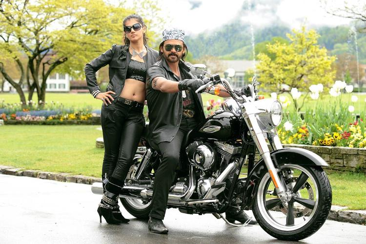 Venkatesh And Taapsee  Looks Dapper In Black Dress Photo Still From Movie Shadow