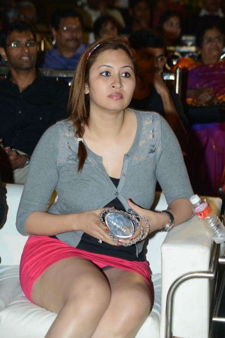 Jwala Gutta Charming Look Photo Still At Back Bench Student Audio Release