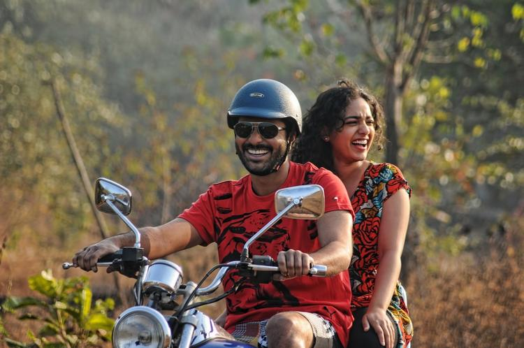 Sharvanand And Nithya Cool With Bike Still From Yemito Ee Maya Movie