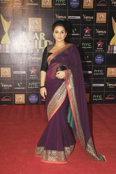 Vidya Balan Dazzles In Red Carpet At 8th Renault Star Guild Awards 2013