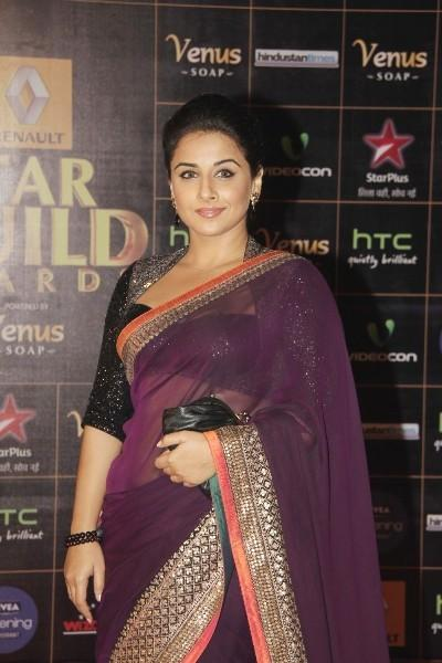Vidya Balan Strikes A Pose At 8th Renault Star Guild Awards 2013