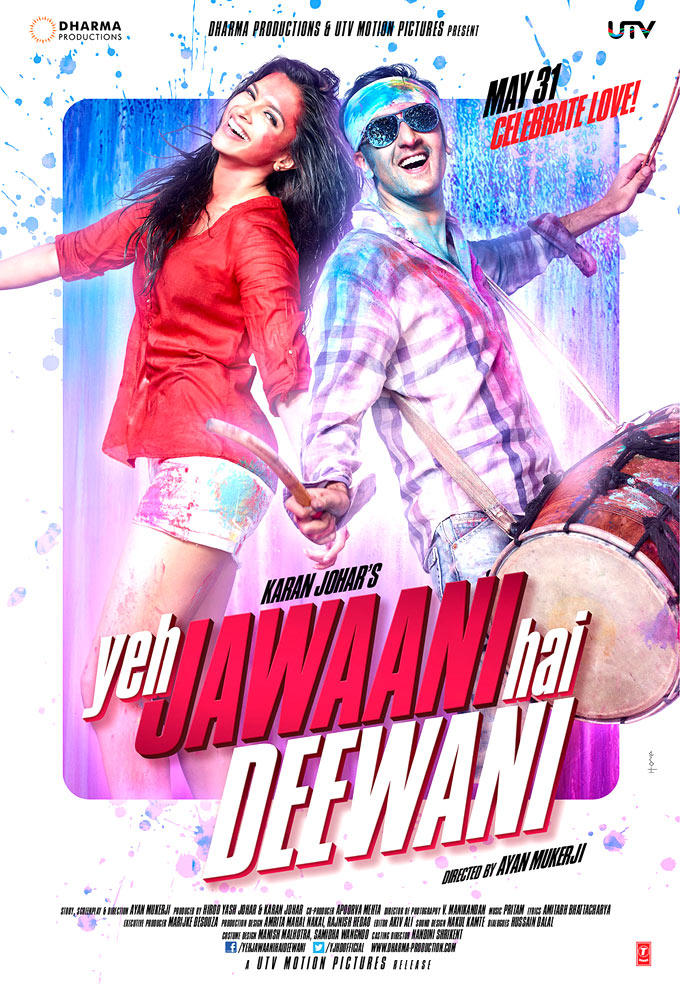 First Look Of Ranbir Deepikas Yeh Jawaani Hai Deewani Movie Poster