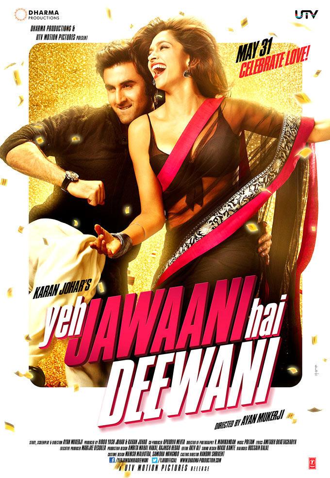 Ranbir And Deepika Smiling Photo Wallpaper Of Movie Yeh Jawaani Hai Deewani