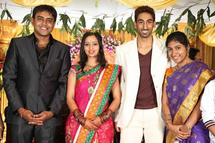 Singer Malavika and Krishna Chaitanya Posed At Singer Malavika And Krishna Chaitanya Wedding