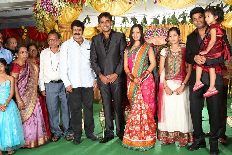 Singer Malavika,Krishna And Guests Are Posed At Singer Malavika And Krishna Chaitanya Wedding