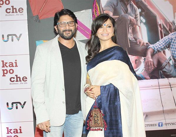 Arshad With Wife Maria Posed At Kai Po Che Premiere Show Event