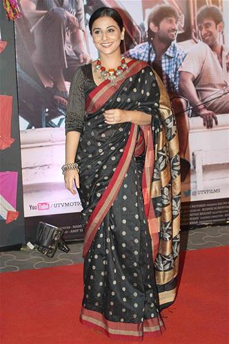 Vidya Balan Glamour Look In Red Carpet At Kai Po Che Premiere Show Event