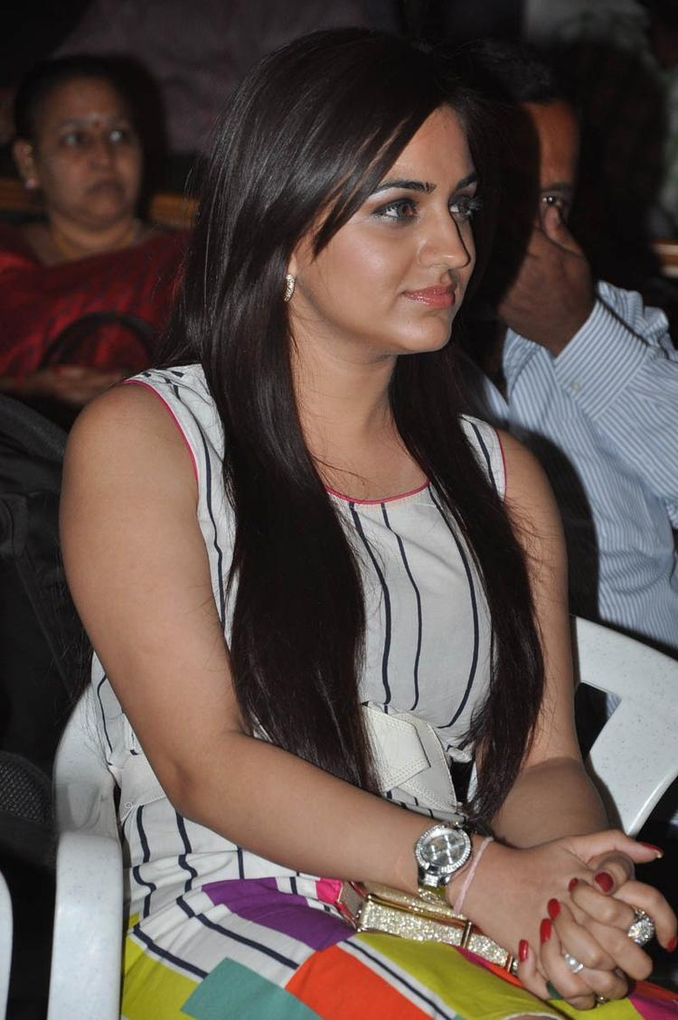 Aksha Pardasany Cute Look Photo Clicked At Gola Seenu Audio Launch Function
