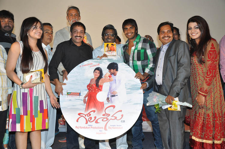 Aksha,Raj,Srinivas,Tashu And Sirivennela With CD At Gola Seenu Audio Launch Function