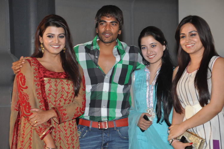 Srinivas,Tashu And Aksha Smiling Pose At Gola Seenu Audio Launch Function