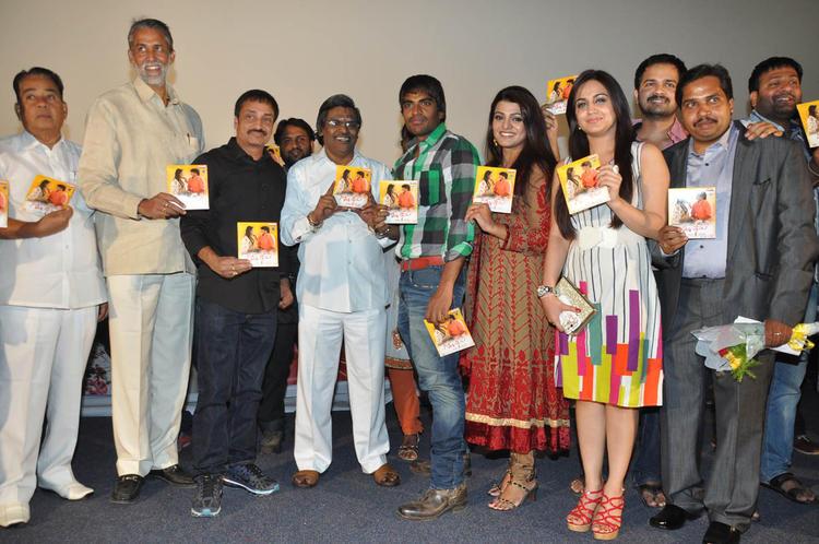 Srinivas,Tashu,Aksha,Raj And Sirivennela With Audio CDs At Gola Seenu Audio Launch Function