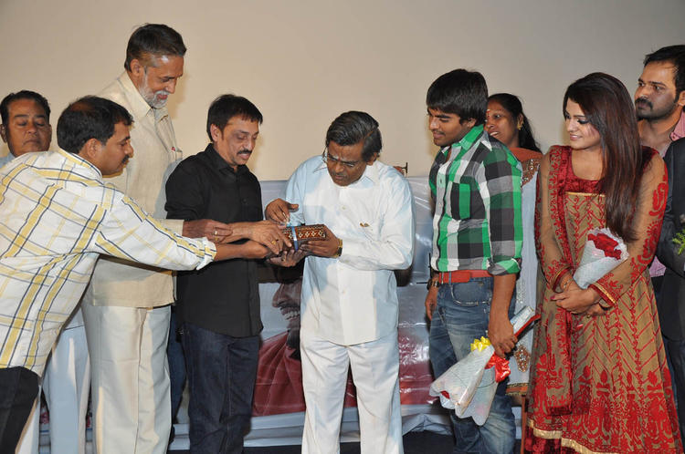 Srinivas,Tashu,Raj And Sirivennela Snapped At Gola Seenu Audio Launch Function