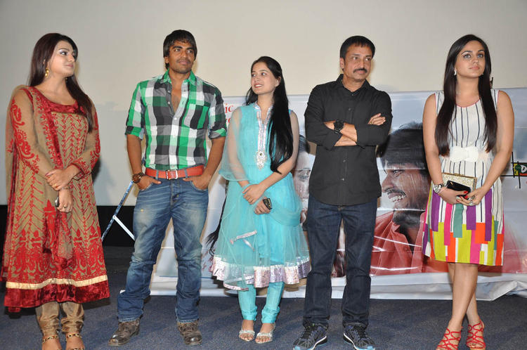 Tashu,Srinivas,Raj And Aksha Photo Clicked At Gola Seenu Audio Launch Function