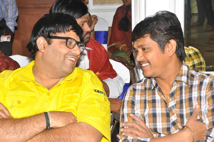 Krishnudu With A Friend At Mr Manmadha Movie Audio Release Function