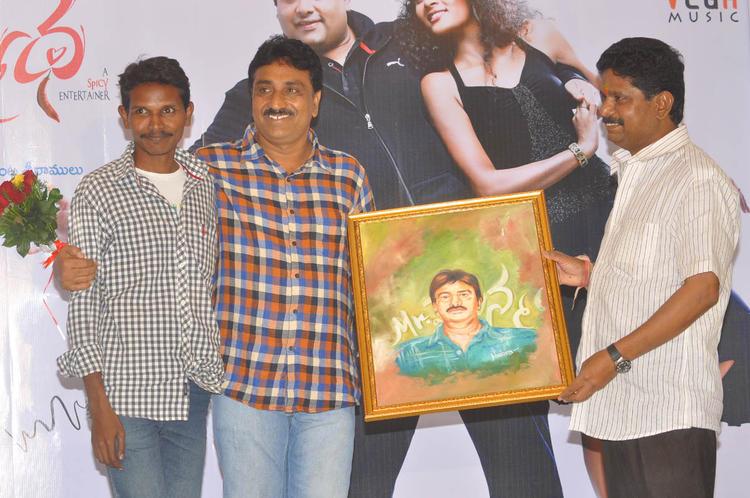 Satyam Bellamkonda Smiling Photo Clicked At Mr Manmadha Movie Audio Release Function