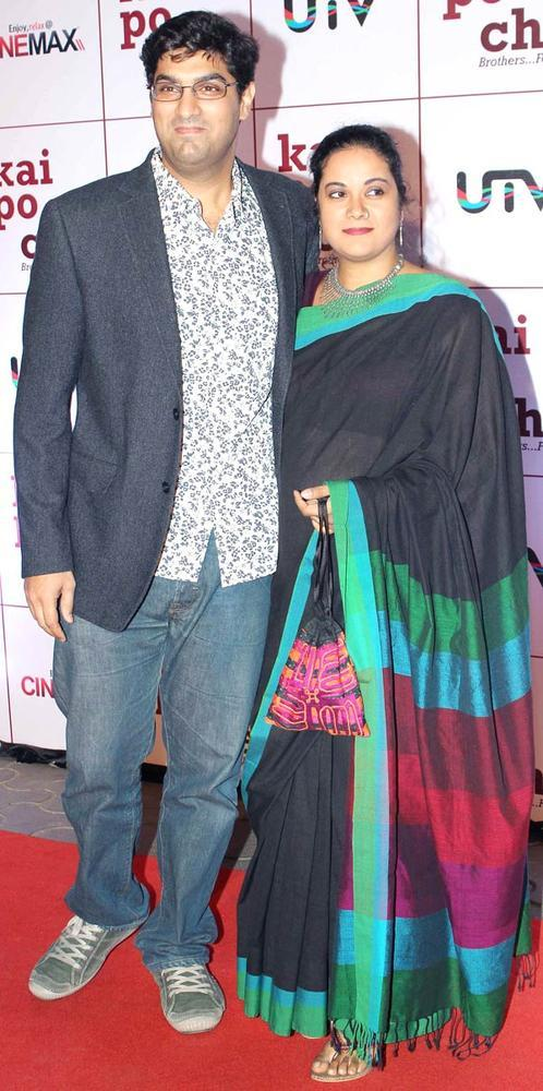 Kunaal With Wife Shayonti Snapped At Kai Po Che Premiere Show Event