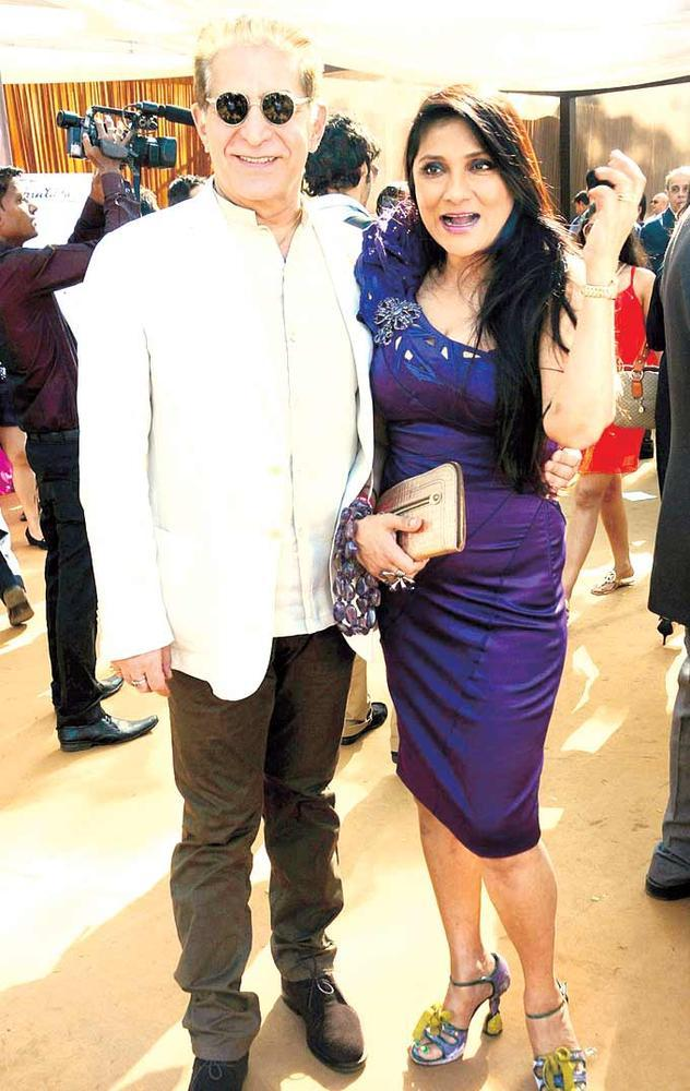 Dalip Along With Aarti Spotted At The G2 Gold Cup Race Event