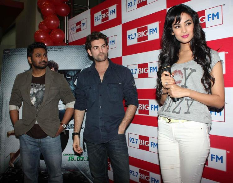 Neil Nitin And Sonal Snapped At 92.7 FM Radio During Launch Of 3G Movie Music