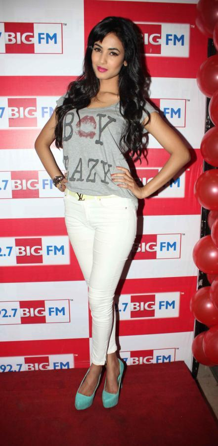 Sonal Chauhan Strikes A Pose At 92.7 FM Radio During Launch Of 3G Movie Music