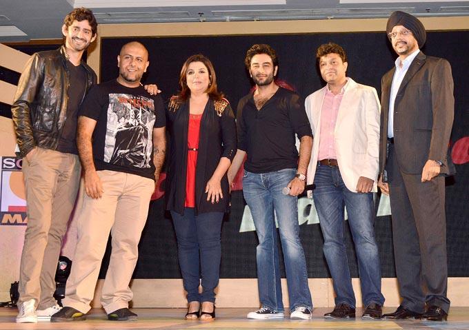 Farah,Gourav,Vishal And Shekhar Posed At Sony MAX IPL Press Conference 2013